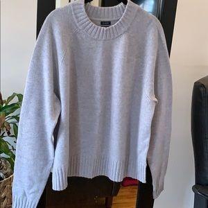 Gap 100% Cashmere Gray Crewneck Sweater